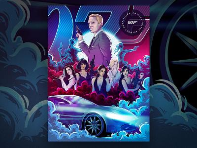 James Bond (fan poster) illustration 🍸🔫 digitalart movie art graphic movie poster 007 jamesbond character illustration