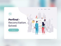 Perfinal - Reconciler UI design & Illustrations flatdesign flat charcters onepager website uxui ui illustration