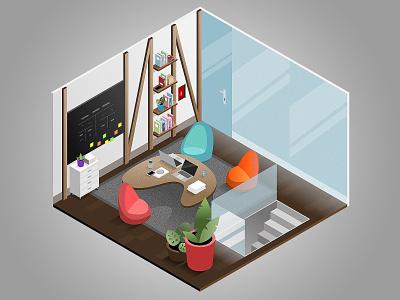 Game illustrations gamedesign game room isometric illustration