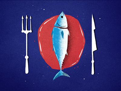 World Tuna Day sustainability flat texture tunaday tuna illustration