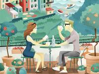 Coffee in Corniglia (poster)