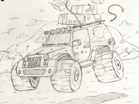 Crazy jeep (sketch).