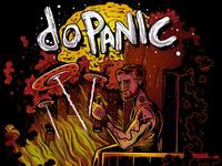 doPanic Craft Beer label illustration