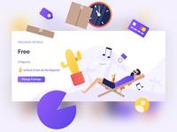 Flat illustrations & UI Design