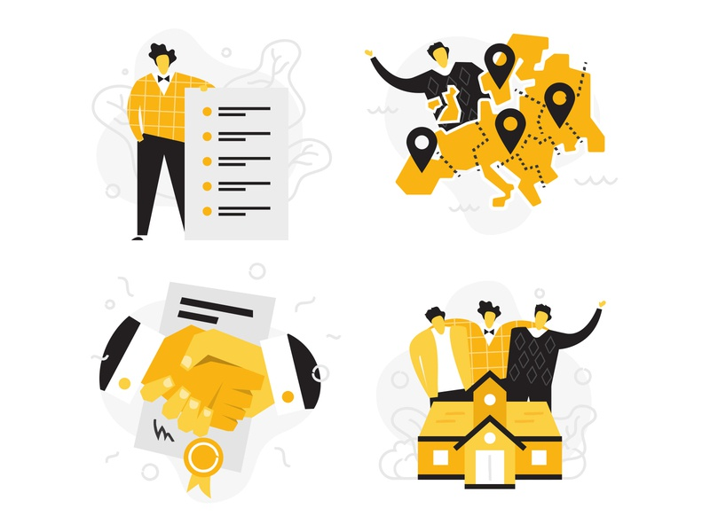 Flat illustrations for a web project webdesign flatdesign flat ui adobeillustrator character funny illustration