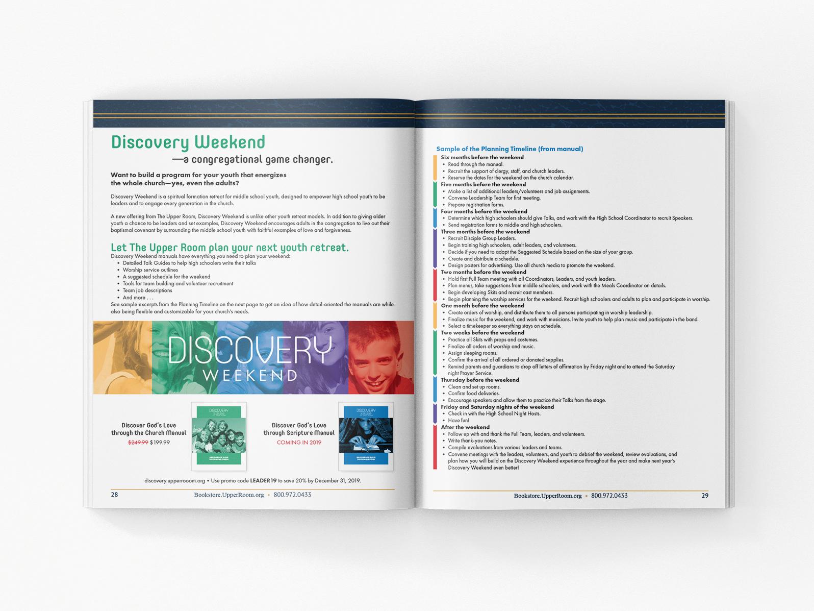 Discovery Ad brand design concept design advertisement page layout magazine ad magazine layout branding program design