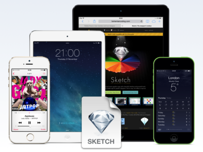 New iOS Devices for Sketch App ios sketch sketchapp template retina iphone 5c iphone 5s iphone 4s ipod touch ipad air ipad mini ipad 2