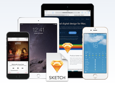 Free iOS Devices for Sketch v3 iphone ipad sketch free template iphone 6 iphone 6 plus ipad air ipad mini