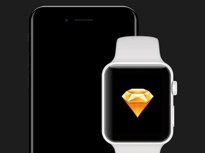 iPhone 7 & WATCH Series 2 for Sketch 7 plus sketch app ceramic watch apple download free device template 7 iphone sketch