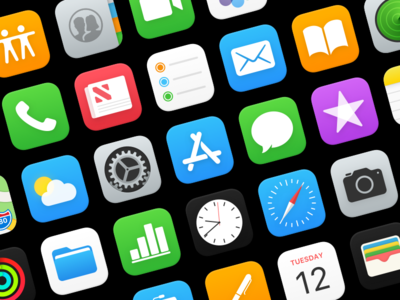iOS Icons app store app icon safari settings homescreen app icon ios