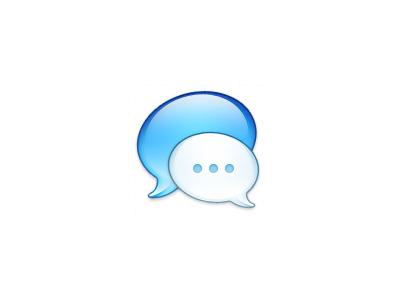Messages Icon (Release!) chat bubble messages os x dock icon bubbles blue white