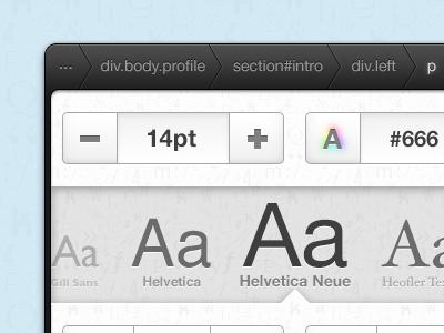 Popover ipad ui popover type font helvetica typography web colour grey black breadcrumb