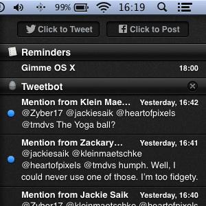 Gimme OS X gimme black dark gloss glossy theme mountain lion os x notification center