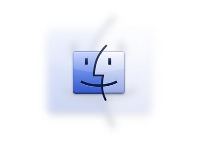 Finder finder dock icon sketch blue apple os x