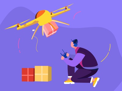 Drone Delivery Illustration product design uiux design agency besnik creative agency besnik creative illustration besnik food illustration illustration concept food delivery uiux design illustration illustration design food delivery illustration drone delivery drone delivery illustration