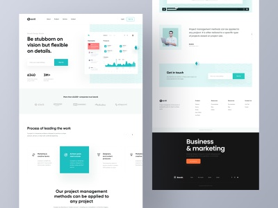 Project management tool website web layout landing design application design web application project manager creative design agency besnik besnik creative agency design agency uiux design agency uiux design web app design website design landing page web app landing page project management tool
