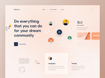 Community Landing Page product landing page ux design 2021 trend community web ui webdesign community landing page landing page ui landing page website design uiux design agency uiux design besnik product design