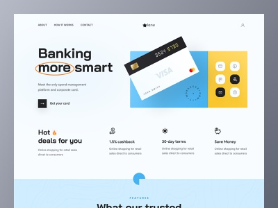 Smart banking Landing page online course creative design agency online marketing payment method landing page wire transfer online store banking website online shopping online banking landing page mobile application app concept product design uiux design agency app design uiux design besnik