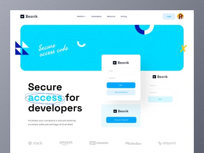 Development-Tool Header UI ui design trend 2021 saas website saas landing page software webdesign sofware saas header ui header landing page design website ui header design web ui ui landing page website design uiux design agency product design uiux design besnik