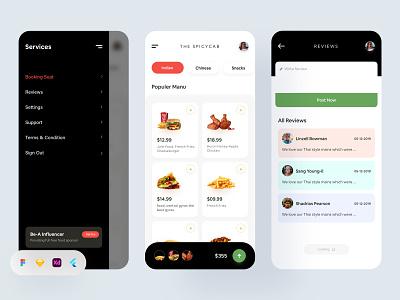 Restaurant App dark ui cooking app food restaurant app food app modern app ui app app ui design design landing page website design app design product design uiux design agency uiux design besnik