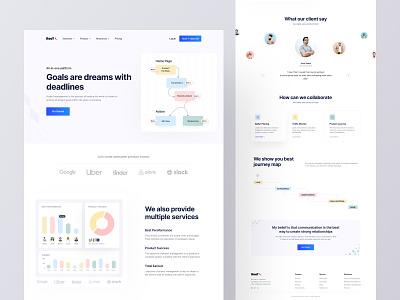 Root Project Management Website header design header project management trend webdesign landing page website design app design product design uiux design agency uiux design besnik