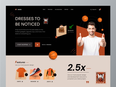 Weals-Online Shop Website Templates online shopping web ui landing page resource free ui resource ui resource ui webdesign websitedesign uihut header homepage header ui header landing page hero section fashion style landingpage ecommerce shopping