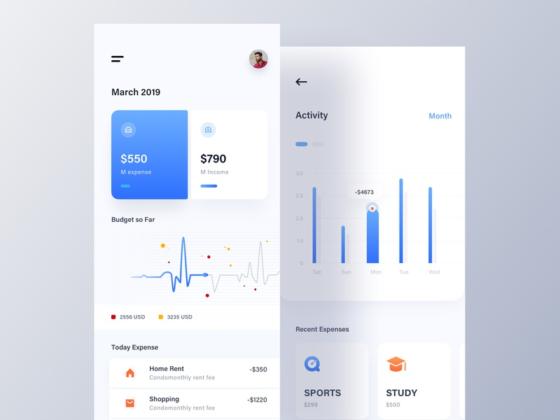 Budget Planner App luova studio fintech best design app ui cryptocurrency cryptocurrency app design app concept bubble chart financial app budget planner app booking app illustration app design exchanger app modern app design colorful app analytic dashboard app mobile application
