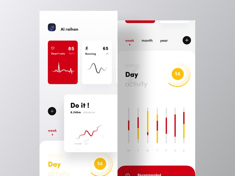 Fitness Tracker app I Light.V best design design ui cryptocurrency app app modern app design app design app concept exchanger app colorful app analytic dashboard app mobile application app designer ios app gym excercise workout gym app fitness fitness app