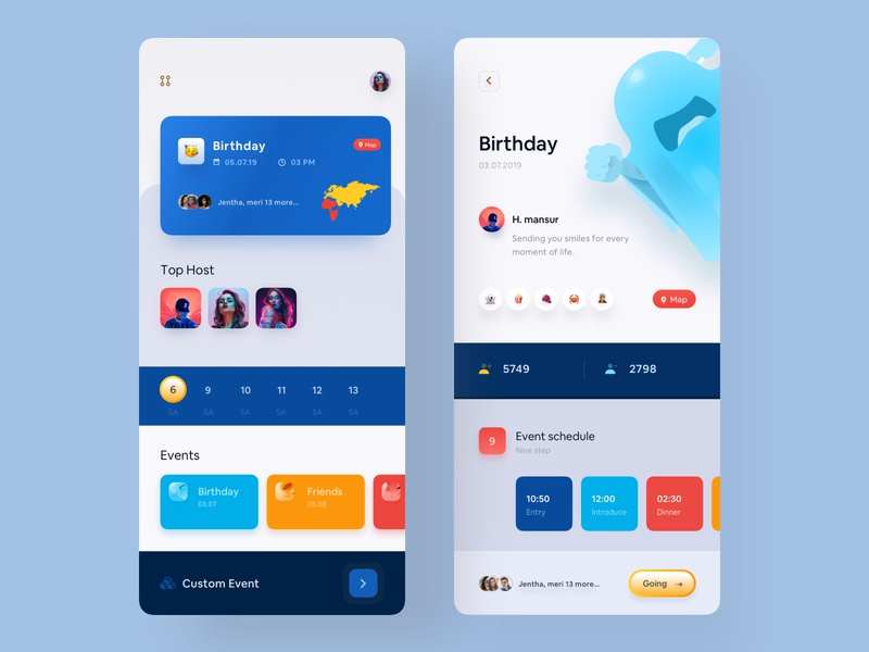 Event App mansurul haque best app design modern app ux design uidesign product design best app ui app ui mobile event app best design exchanger app cryptocurrency app luova studio app concept colorful app analytic dashboard app modern app design app design mobile application