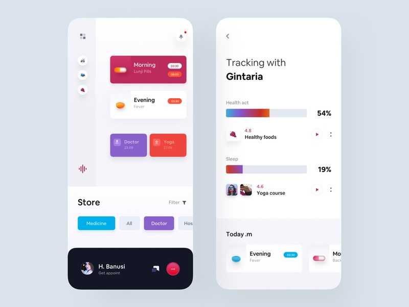 Health Care App medicine app colors cool design luova studio app designer uidesign eccomerce app product app health care healthcareapp best app animation product design ux ui app colorful app modern app design app design mobile application