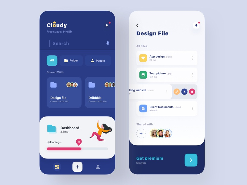 Cloud App Design uiux design application design online app cloud computing new app 2020 app case study app uiux clouds online storage apps cloud app exchanger app best design ui app app concept analytic dashboard app colorful app modern app design app design mobile application