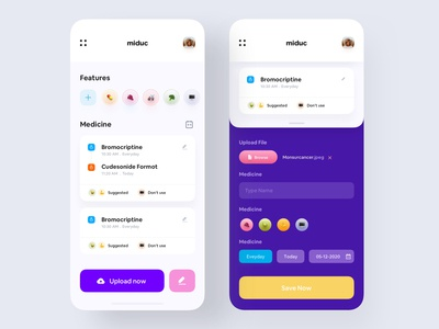 Healthcare app design