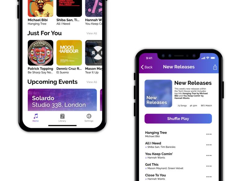 Music App - iOS shadow app ui clean ios design interface experience user sketch music app player music