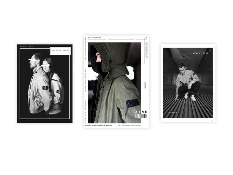 ZINE001 - Magazine black  white black and red black layout magazine design photography typography magazine zine