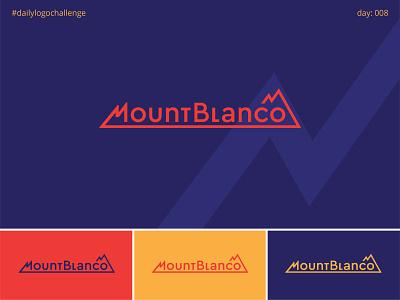 MountBlanco typedesign logodesign logotype vector logo typo illustrator graphic design dailylogochallenge