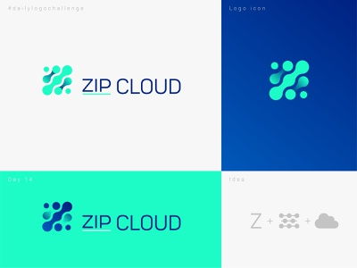 Zip cloud logo dailyulogo vector design graphic illustrator typo dailylogochallenge