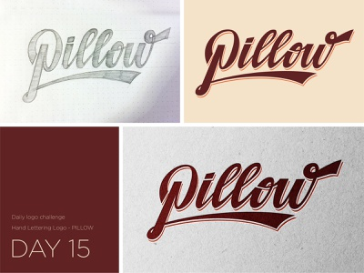 Pillow logo logodesign typedesign logotype illustration vector logo typo illustrator design graphic dailylogochallenge
