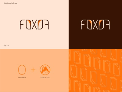 Fox logo dlclogo dailylogo typedesign logodesign illustration typo logo design graphic illustrator dailylogochallenge