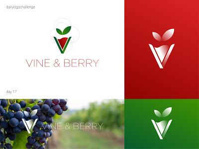 Vine & Berry logo dailylogo logotype logo vector design graphic illustrator typo dailylogochallenge
