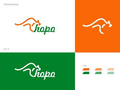 Kangaroo logo logotype dailylogo logo vector dailylogochallenge typo illustrator graphic design