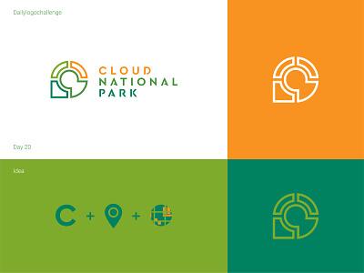 Cloud national park dailylogo illustration logo vector dailylogochallenge typo illustrator graphic design