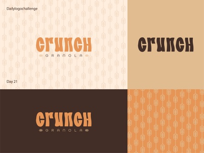 Crunch logo illustration dailylogo logo vector dailylogochallenge typo illustrator graphic design