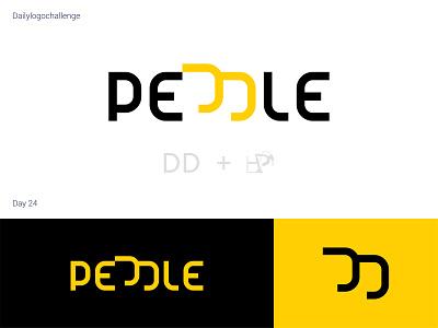 Peddle logo logodesign logotype dailylogo logo vector dailylogochallenge typo illustrator graphic design