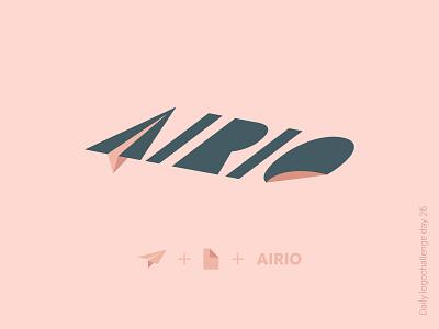 Airio logo typedesign logodesign logotipo dailylogo illustration vector logo dailylogochallenge typo illustrator graphic design
