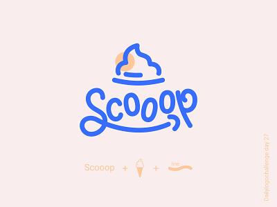 Scooop logo logotip typedesign logodesign dailylogo illustration vector logo dailylogochallenge typo illustrator graphic design