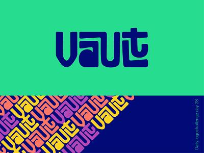 Vault logo logodesign typedesign dailylogo logotip logotype branding illustration vector logo dailylogochallenge typo illustrator graphic design