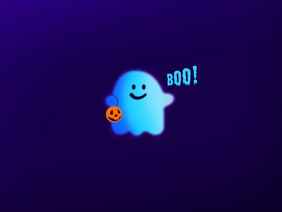 Boo! pink poster soul scary halloween illustration graphic design