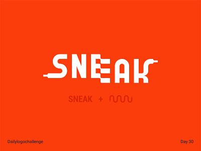 Sneak logo typedesign dailylogo illustration logo vector dailylogochallenge typo illustrator graphic design