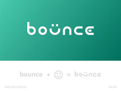 Bounce logo tepedesign logotype dailylogo illustration vector logo dailylogochallenge typo illustrator graphic design