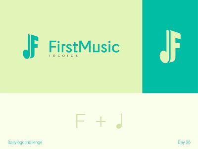 First music logo procreate logodesign typedesign logotype dailylogo illustration vector logo dailylogochallenge typo illustrator graphic design